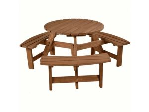 Brentwood 6 seat Round Picnic Table