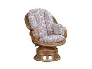 Cane Bari Swivel Rocker With Full Wrap Cushion