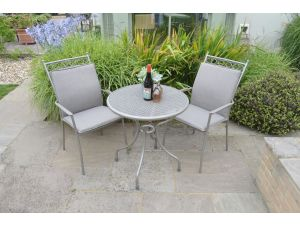 Leisuregrow Richmond 70cm Tea for Two with Highback Armchairs and Cushions