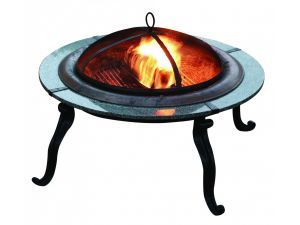 Bosmere Storm Black Small Round Fire Pit Cover