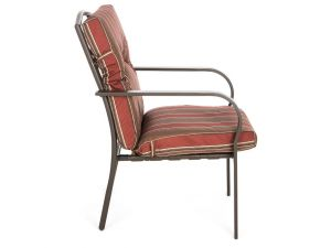 Royalcraft Padded Armchair With Stripe Cushions