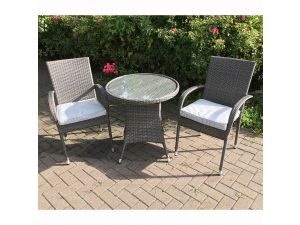 Royalcraft Marlow 2 Seater Stacking Rattan Bistro Set Incl. Cushions
