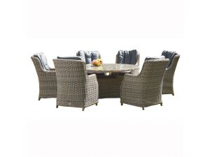 Royalcraft Wentworth 8 Seat Oval Rattan Set With 8 Highback Chairs