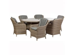 Royalcraft Wentworth 8 Seat Oval Rattan Set With 8 Imperial Chairs