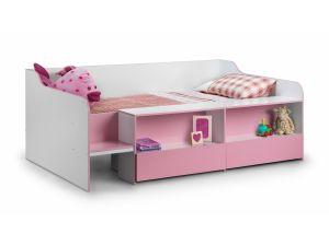Julian Bowen Stella Low Sleeper Pink 3ft Single Kid Bed