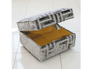 Alstons Venice Fabric Storage Stool