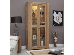 Trend Oak Glass Display Cabinet