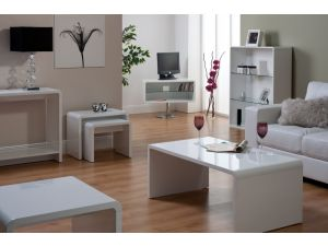 Toscana White High Gloss TV Unit