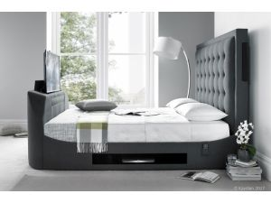 Kaydian Titan 5ft Kingsize Berwick Dark Grey Fabric Media Bed