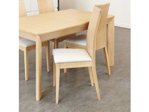 Olten Uno Stone Dining Chair in Light Oak Finish (Pack Of Two)