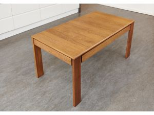 Olten Extending Dining Table With Drawer in Oak Finish
