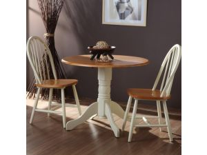 Brecon Honey Dining Table And Two Windsor Dining Chairs