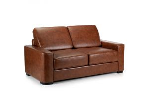 Winston Vintage Brown Leather Sofa Bed