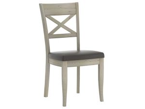 Bentley Designs Chartreuse Aged Oak X Back Chairs Pair
