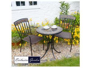 Europa Clandon 60Cm Table Set With 2 Kingswood Chairs