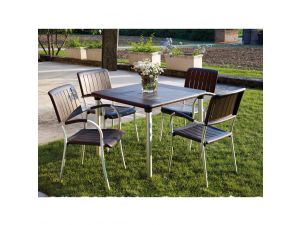 Europa Coffee Maestrale 90 Standard Set With 4 Musa Chairs