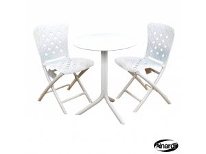 Europa Step Bistro Table White