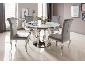 Orion White Round Metal Dining Table