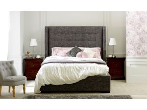 Limelight Aquila 4ft6 Double Slate Grey Fabric Bed