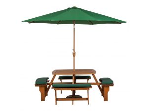 Royalcraft Sacramento 8 Seater Picnic Bench With 4 Seater Cushions