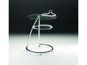 Chelsom Adler Circular Glass Side Table