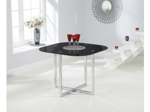 Abingdon Black Glass Square Dining Table