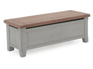 Abingdon Antique Grey Wooden Blanket Box