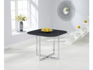 Abingdon Grey Glass Square Dining Table