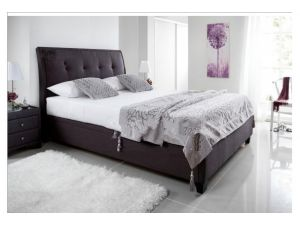Kaydian Accent 5ft Kingsize Slate Fabric Ottoman Bed