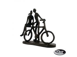Europa 14cm Summer Couple With Bicycle Cast Iron Figurine