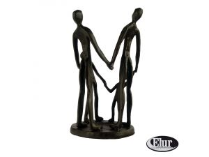 Europa 19cm Summer Family Circle Cast Iron Figurine
