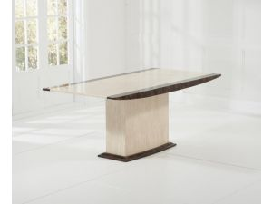 Alba Cream And Brown Constituted Marble Dining Table