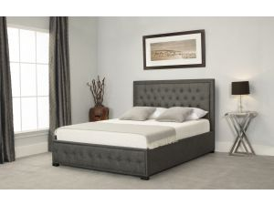 Emporia Albany 4ft6 Double Grey Fabric Ottoman Bed