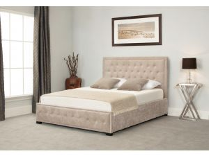 Emporia Albany 4ft6 Double Stone Fabric Ottoman Bed