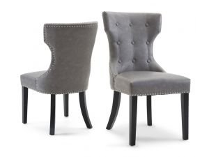 Fairmont Alisa Grey Leather Dining Chairs