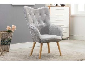 Austin Crushed Silver Armchair