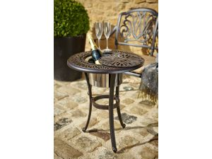 Hartman Amalfi Cast Aluminium Bronze Bistro Table with Ice Bucket