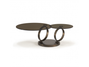 Anelli Brown Glass Coffee Table