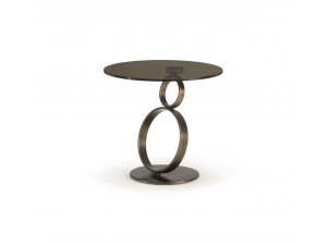 Anelli Brown Glass Lamp Table