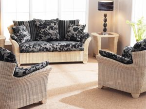 Cane Arona 2.5+1+1 Seater Scatter Back Cushion And With Arm Pads Sofa Set