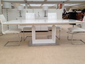 Lavinia Extending Dining Table + 6 Fabia Chairs Set