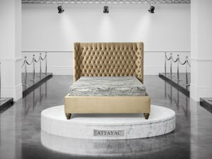 Oliver & Sons Attayac 5ft Kingsize Fabric Bed