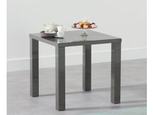 Ava 80cm Dark Grey High Gloss Square Dining Table