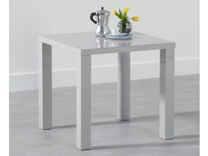 Ava 80cm Light Grey High Gloss Square Dining Table
