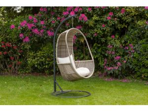 Royalcraft Wentworth Rattan Hanging Pod Seat with Cushions