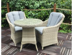 Royalcraft Wentworth 2 Seat Bistro Rattan Set with 2 Imperial Chairs