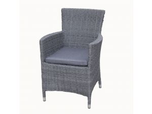 Royalcraft Paris Rattan Carver Chair With Seat Cushion