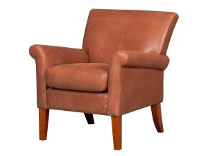 Balmoral Vintage Tan Leather Accent Chair