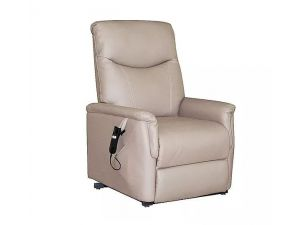 Baltimore Earth Fabric Single Motor Riser Recliner Chair