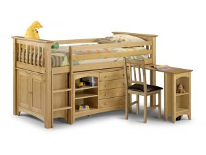 Julian Bowen Sleep Station Pine Bunk Bed (Barcelona Style) Right Hand Ladder